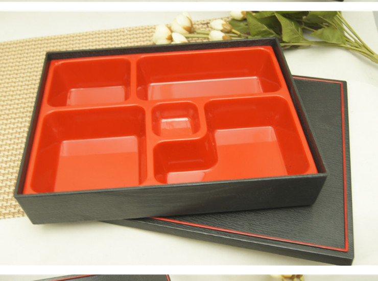 Japanese Tableware High-End Lunch Box Abs Plastic Lunch Box Lunch Box Five With A Bowl With Fast Food Box