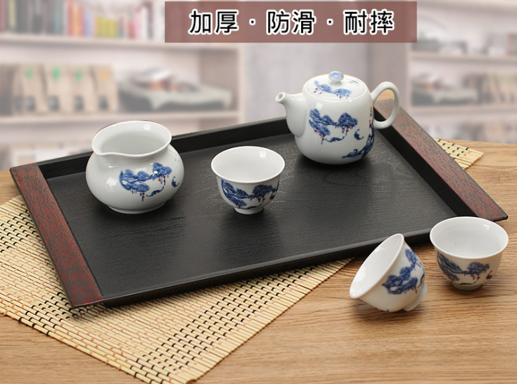 Japanese Tray Melamine Tableware Hotel Rectangular Tray Double Ear Sushi Tray Melamine Tray Thickening