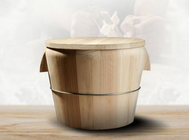 Kitchen Tool Hand-Held Steamed Rice Bucket Steamed Rice Wooden Canteen Restaurant Steamer Pine Rice Bucket