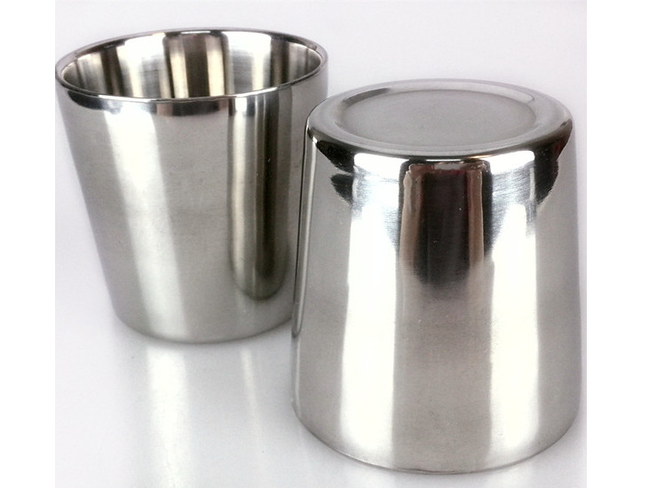 Korean Stainless Steel Cup Double Cup Cup Stainless Steel Glass Cup Stainless Steel Cup 400Ml