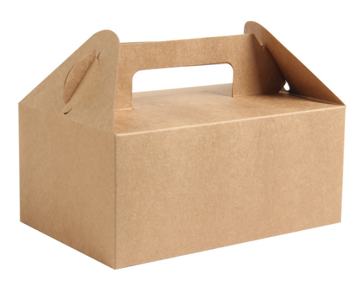 (Box/300 Pcs) Kraft Paper Packaging Box Portable Pastry Box Cookie Box Mousse Box Cake Box (Door Delivery Included)