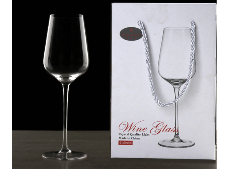 Lead-Free Crystal Goblet European Red Wine Glass Home Gift Box Glass Personality Wine Glass Set Wine Glass New (One Set 2 Pcs)