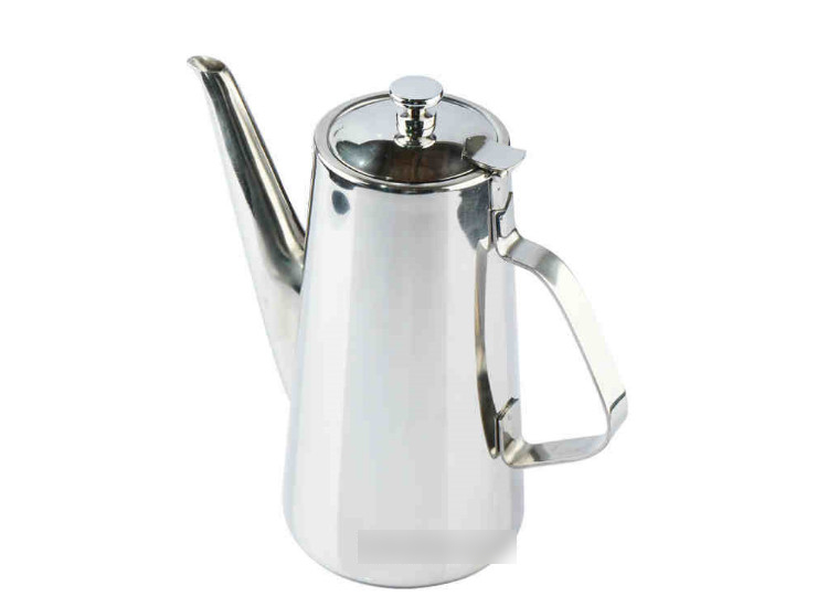 Long Mouth Stainless Steel Cold Kettle Non-Magnetic Coffee Pot Teapot