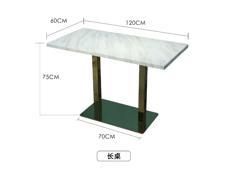 Marble Solid Wood Dining Table Chair Cafe Table Chair Combination (Delivery & Installation Fee To Be Quoted Separately)