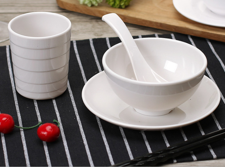Melamine Cutlery Set Imitation Porcelain Dish Rice Noodle Bowl Cool Dish Dish Hotel Set Table Dish