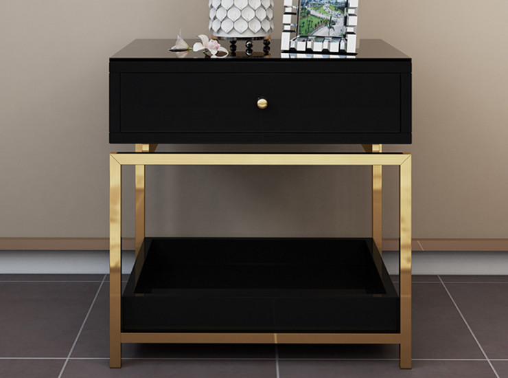 Modern Light Luxury Shop Room Bedside Table Nordic Economy Simple Locker Simple Bedroom Bedside Storage Cabinet Multifunctional (Shipping & Installation Fee To Be Quoted Separately)