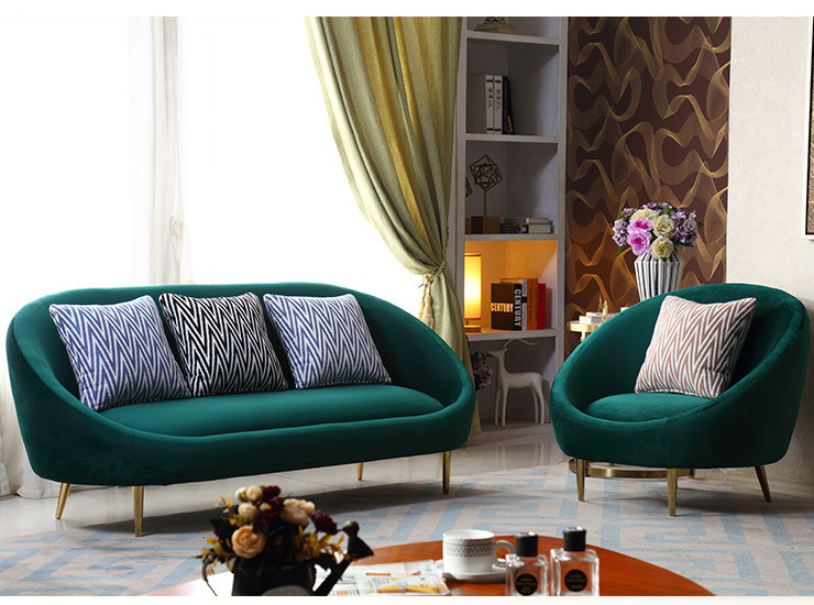 Modern Nordic Living Room Fabric Eggs Three-Bedroom Sofa Club Hotel Lobby Negotiation Reception Room Single Sofa (Shipping & Installation Fee To Be Quoted Separately)