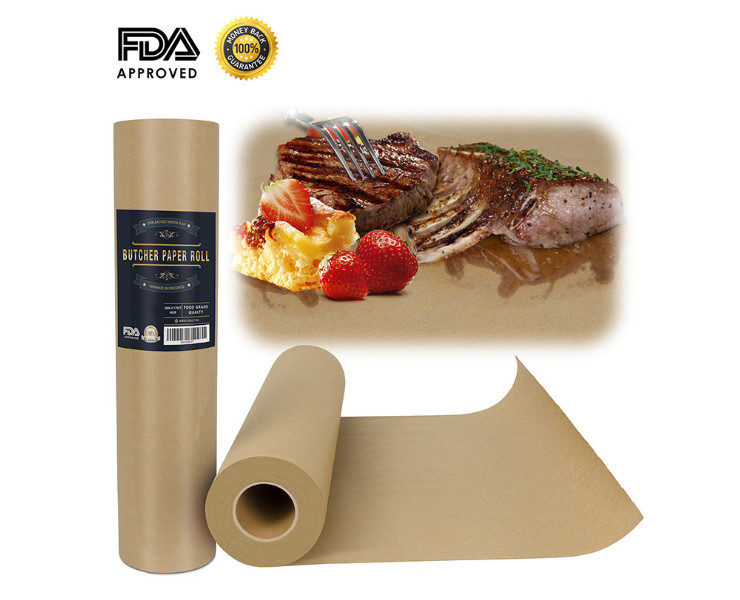New Hot-Selling Barbecue Paper Butcher Paper Kraft Paper Barbecue Paper Butcher Paper Fda Certification (Door Delivery Included)