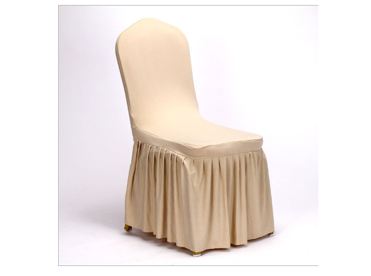 New Listing Restaurant Linen Polyester Color Banquet Chair Cover Upscale Hotel Restaurant Elastic Wedding Seat Cover