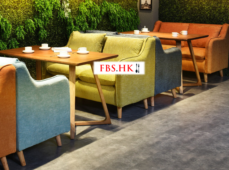 Nordic Casual Cloth Sofa Single Double Cafe Western Restaurant Dessert Furniture Quote Sofa (Matching Fee Quoted Separately)