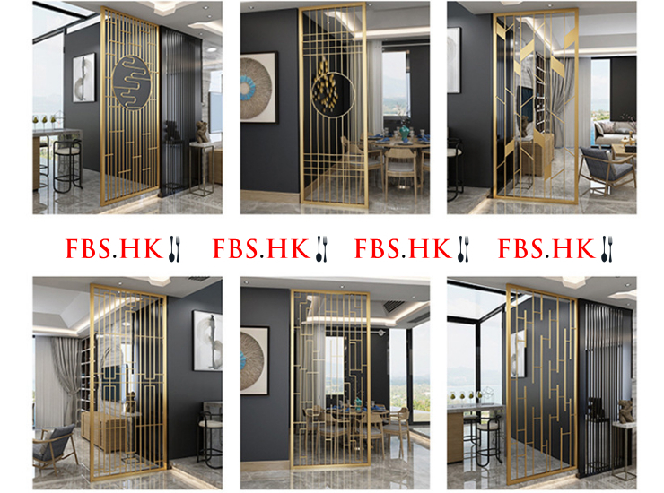 Nordic Metal Porch Screen Dining Room Living Room Decoration Wrought Iron Light Luxury Minimalist Partition Apartment Hotel Floor Hollow (Delivery & Installation Fee To Be Quoted Separately)