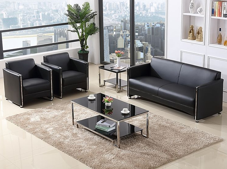Office Combing Reception Room Single Person Sofa Coffee Table Combination Modern Minimalist 4S Shop Lounge Area Conference Sofa (Shipping & Installation Fee To Be Quoted Separately)