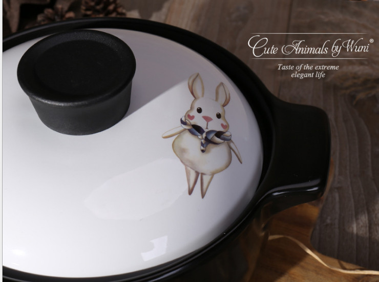 Other Kitchen Pottery Products Casserole Cartoon Home Ceramic Casserole Stew Pot Soup Pot Porridge Health Soup Pot High Temperature Can Be Open Fire Heating
