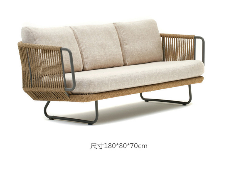 Outdoor Rattan Sofa Combination Rattan Rattan Chair Leisure Sofa Hotel Villa Model Room Rattan Chair Sofa (Delivery & Installation Fee To Be Quoted Separately)