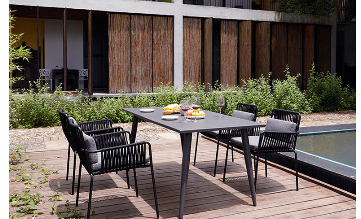 Outdoor Rope Chair, Coffee Table, Three-Piece Set, Hotel, Outdoor Cafe, Leisure Outdoor Wicker Chair (Delivery & Installation Fee To Be Quoted Separately)