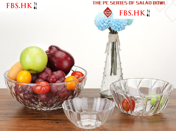 Pc Acrylic Salad Bowl Fruit Bowl Imitation Glass Transparent Plastic Bowl Vegetable Dessert Tableware Tea Bowl Large