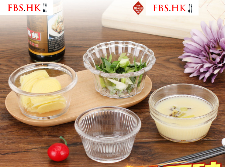 Pc Seasoning Bowl Hot Pot Dipping Sauce Dish Hotel Pudding Bowl Transparent Snack Dish