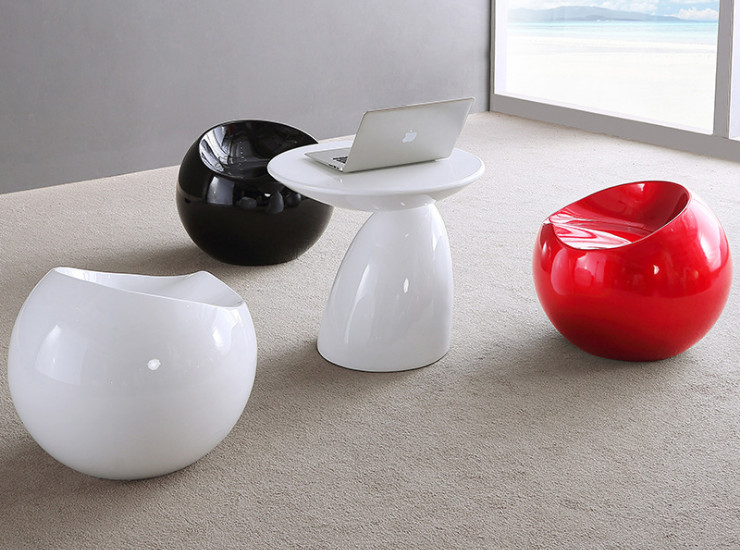Personality creative small ball stool Apple chair Club reception negotiation meeting table and chair combination (Shipping & Installation Fee To Be Quoted Separately)