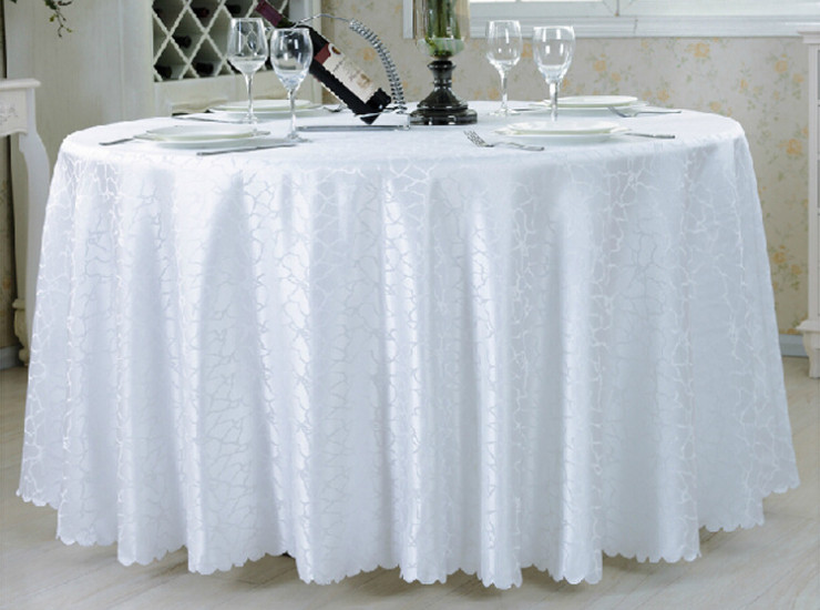 Polyester Solid Color Banquet Tablecloths Restaurant Red Linen Hotel Round Tablecloths