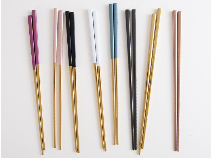 Portuguese Same Series Restaurant/Home Essential Chopsticks 304 Stainless Steel Mirror Chopsticks Household Chopsticks