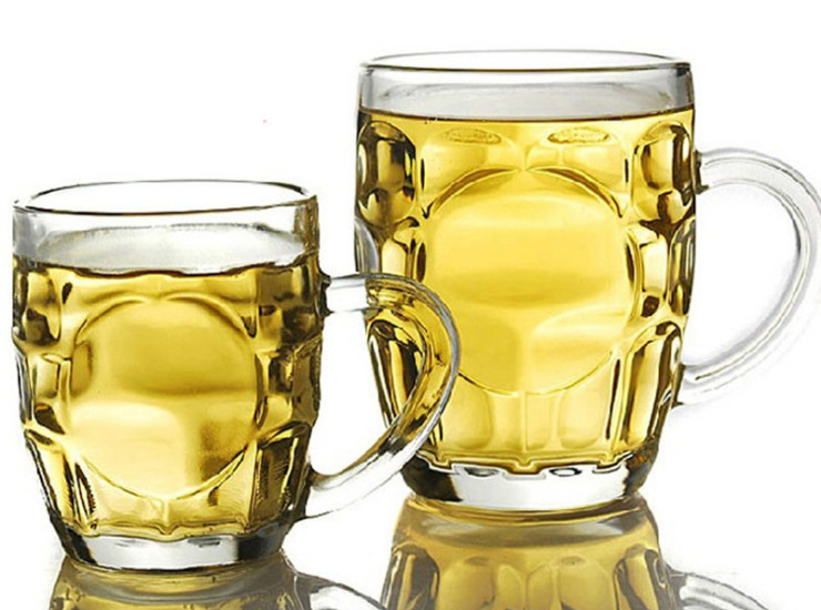 (Ready Glassware Stock) Glass With Handle Glass Beer Cup Water Cup Mug Cup Juice Cup 300ML / 500ML