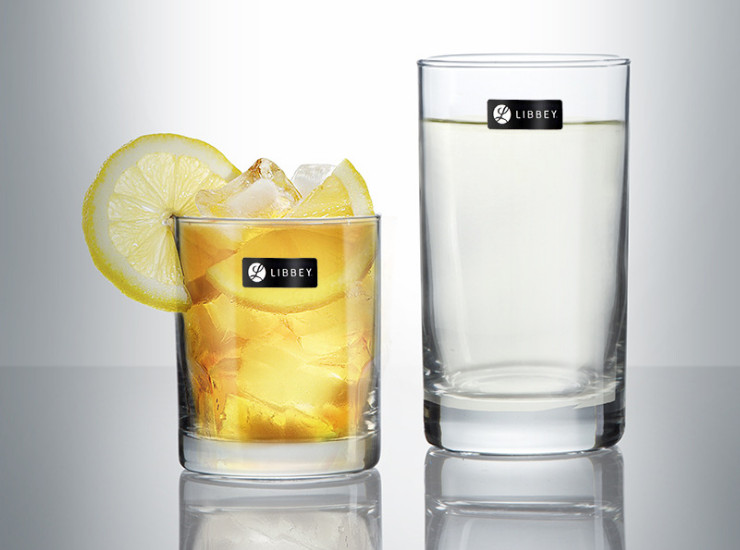 (Ready Glassware Stock) US Libby Glass Clear Water Cup Straight Cup Juice Drink Cup Hot Cup Hot Drink 229Ml / 311Ml