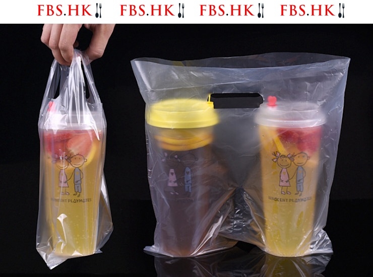 (Ready One-Time Disposables Take-Away Tableware Packings In Stock) (Box/1000) Thick Milk Tea Packaging Bag Beverage Takeaway Bag Packing Bag Portable One Bag Single Double Bag