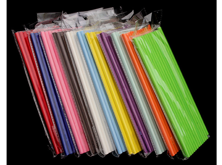 (Ready One-time Disposals Take-away Tableware) (Box/5000/10000pcs) Plastic-knocked-out Tableware Environmental FSC Certified Paper Drinking Straw FDA Tested Pure Color Paper Colored Drinking Straw Party Color Paper Straw