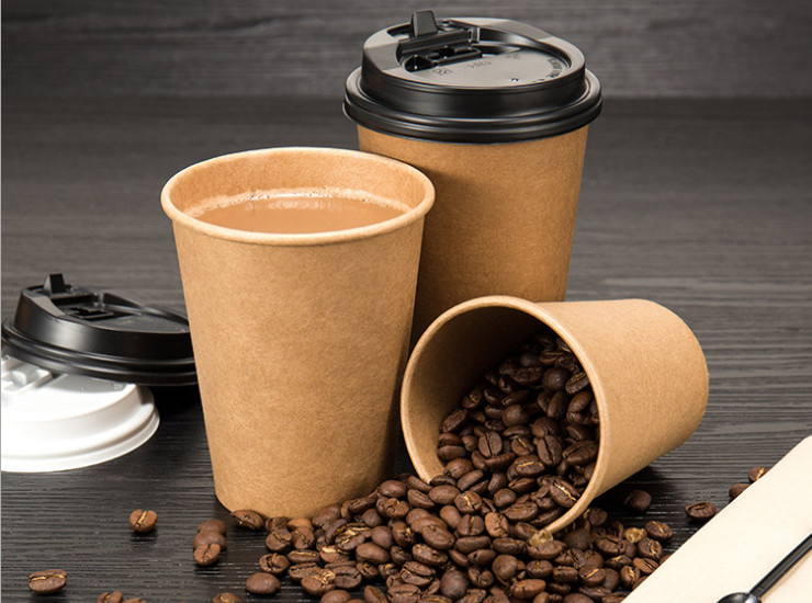 (Ready One-time Disposals Take-away Tableware) (Box/1000 Pcs) 8/12oz Single-layer Thickened Heat-resistant Hot-proof Disposal Craft Paper Cup Hot Drink Cup