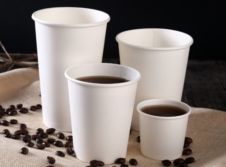 (Ready One-time Disposals Take-away Tableware) (Box/1000 Pcs) 8/12oz Thickened Heat-resistant Hot-proof Disposal White Paper Hot Drink Cup