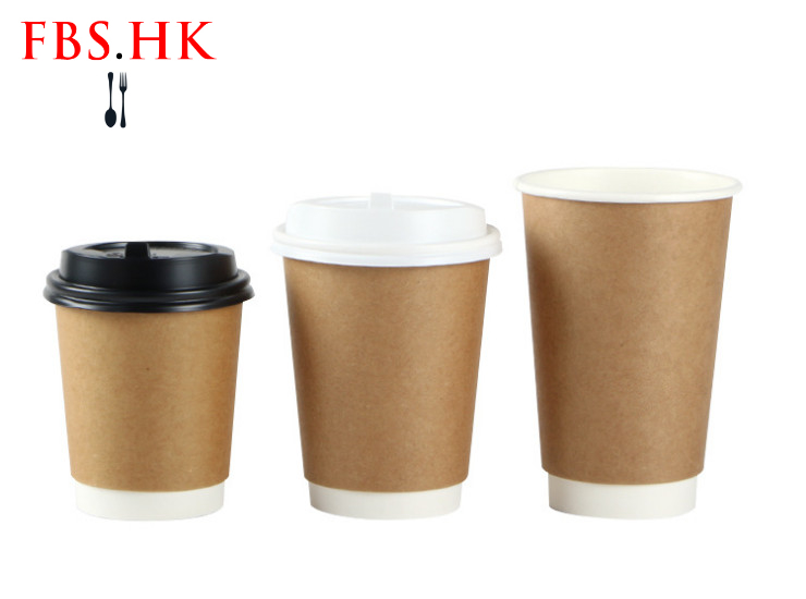 (Ready One-time Disposals Take-away Tableware) (Box/500 Pcs) Disposable Paper Craft Paper Hollow Cup Hot Drink Cup Coffee Cup Soy Milk Packed With Craft Paper Hollow Cup 8/12/16oz (Lid Not Included-Lid has to be purchased separately)
