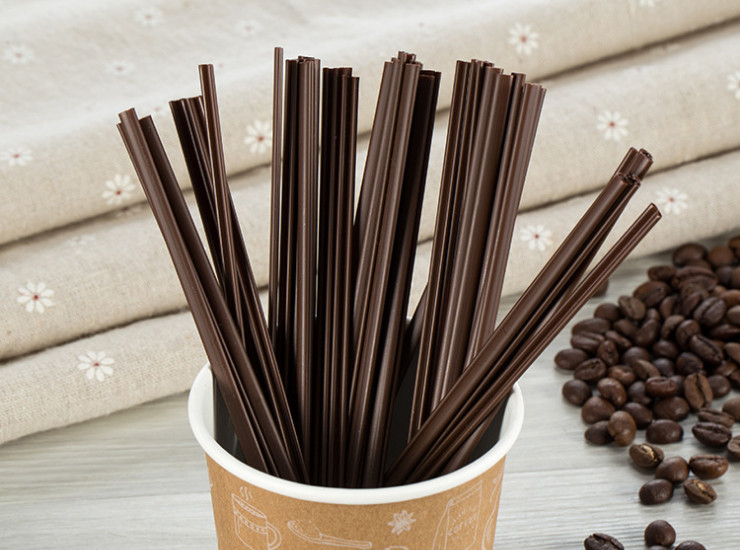 (Ready One-time Disposals Take-away Tableware) (Box/5000 Pcs) One-time Disposal Stirrer Straws for Hot Drinks Hot Coffee Two Holes Thickened
