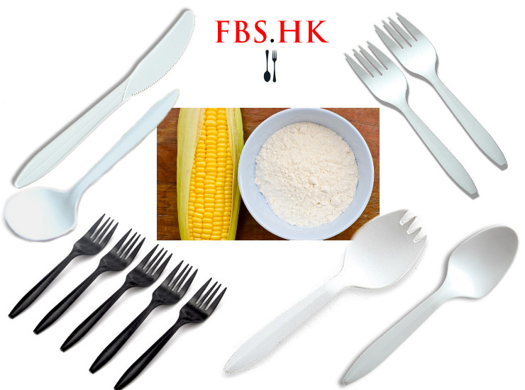 (Ready-Stock Eco-friendly Biodegradable Tableware) (Box/1000 Pcs) 6 Inch Disposable Cutlery Spoon Starch Environmentally Friendly Degradable Tableware High-Grade Thick Cutlery Spoon