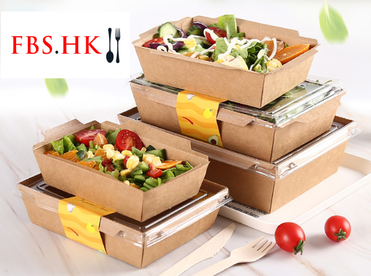 (Instant-pick Transparent Cover Kraft Paper Meal Box Ready Stock) (Box/200 Sets) Kraft Paper Box With Transparent Lid Disposable Rectangular Lunch Box Steak Takeaway Packed Salad Box Sushi Square Bento