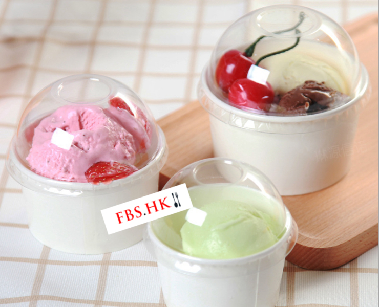 (Instant-pick Paper Ice-cream Cup Ready Stock) (Box/1000 pcs) White Round Double-laminated Ice Cream Paper Cup 3/5/8oz Disposable Ice Cream Paper Cup Dessert Paper Bowl