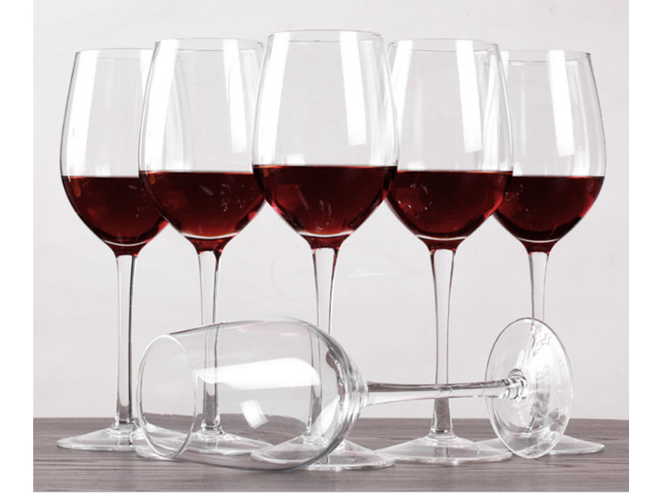 (Ready WinewareStock) Lead-Free Glass Wine Glass Wine Glass Wine Glass Goblet 390ML/675ML
