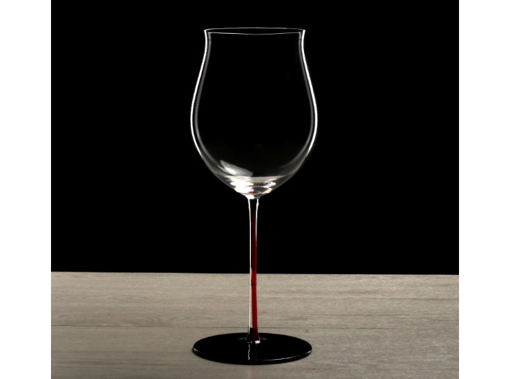 Red Sturdy Black Burgundy Goblet Large Lead-Free Crystal Red Wine Glass Single Cylinder Gift Box