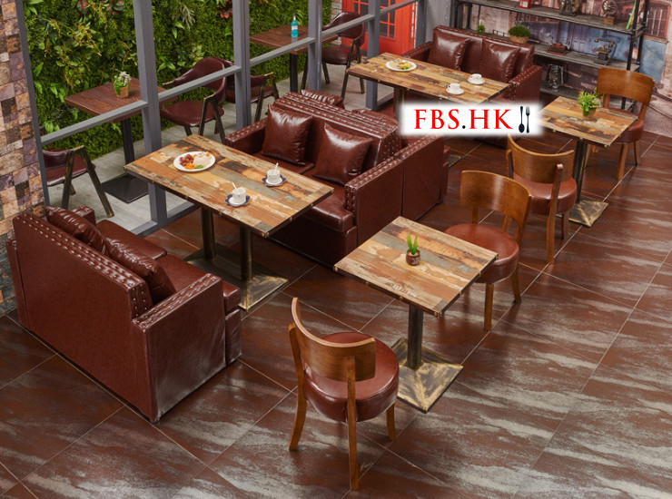 Restaurant Cafe Sofa Furniture Tea Shop Western Restaurant Card Seat Sofa Dessert Shop Theme Casual Dining Furniture (Shipping Fee Quoted Separately)