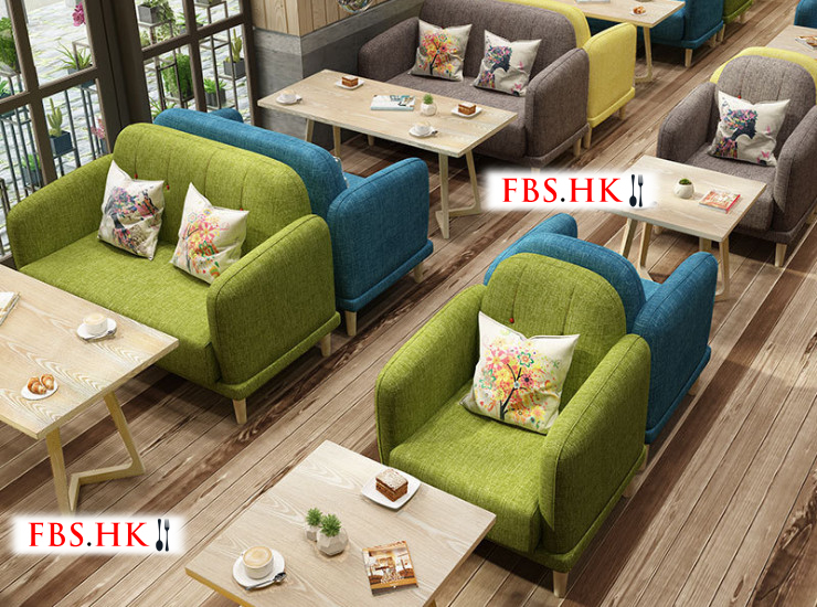 Restaurant Cafe Sofa Tea Shop Deck Furniture Casual Fresh Western Restaurant Dessert Shop Table And Chair Combination Solid Wood Tea (Shipping Fee Quoted Separately)