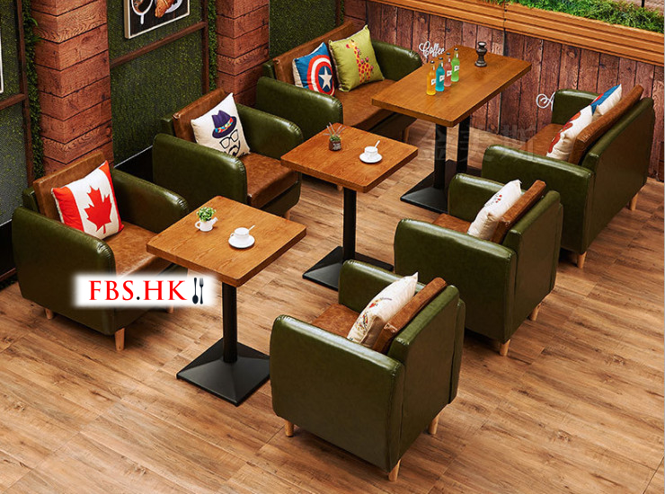 Restaurant Cafe Sofa Western Restaurant Sofa Furniture Leisure Tea Shop Sweet Shop Table And Chair Combination (Shipping Fee Quoted Separately)