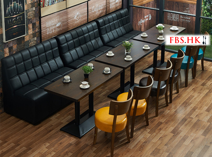 Restaurant Cafe Sofa Western Restaurant Table Chair Dessert Shop Deck Table Chair Tea Shop Furniture Leisure Catering Furniture (Shipping Fee Quoted Separately)