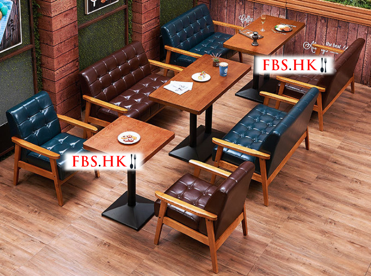 Restaurant Cafe Tables And Chairs Western Restaurant Tea Shop Dessert Drinks Shop Cafe Deck Sofa Combination (Shipping Fee Quoted Separately)