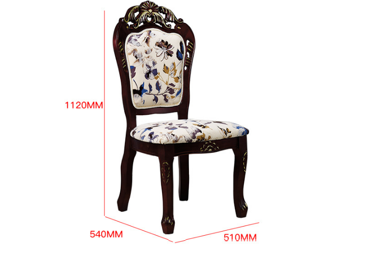 Restaurant Dining Chair Solid Wood Carved Chair Oak Dining Chair Solid Wood Vip Chair European Solid Wood Chair (Delivery & Installation Fee To Be Quoted Separately)