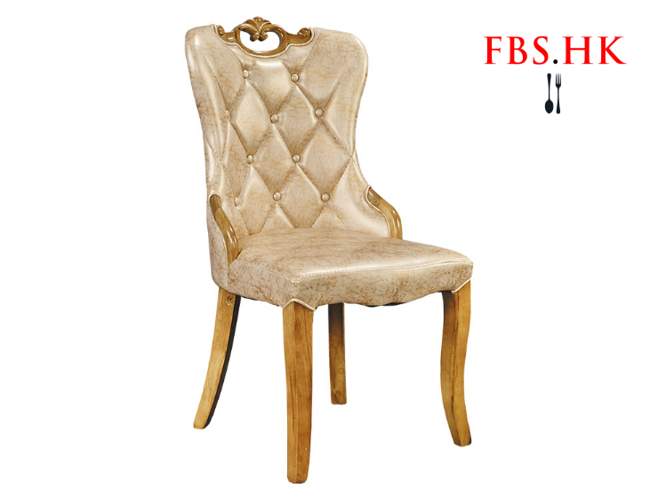Restaurant Hotel Banquet Room High-Grade Solid Wood Dining Chair Soft Leather Dining Chair Hotel Back Chair Korean Dining Chair (Delivery & Installation Fee To Be Quoted Separately)