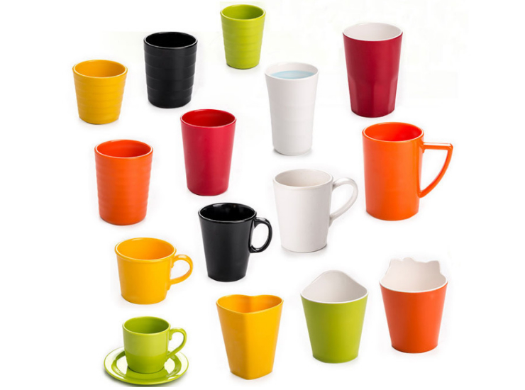 Restaurant Mug Melamine Cup Color Buffet Beverage Cup Fast-Breaking Fast Food Tea Cup Imitation Porcelain Cup