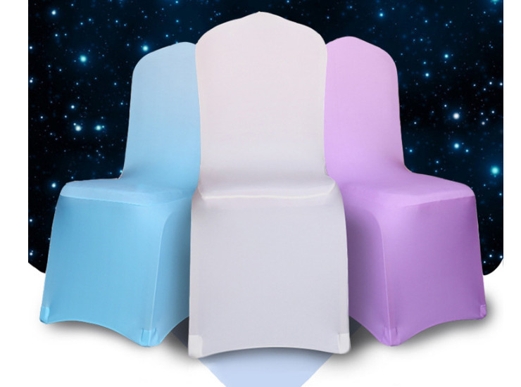 Restaurant Polyester Plain Stretch Chair Cover Hotel Wedding Banquet Conjoined Chair Cover Wholesale