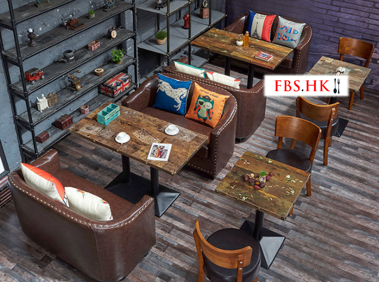 Restaurant Sofa Sofa Table And Chair Matching Combination Barbecue Shop Tea Seat Card Seat Sofa Table And Chair (Shipping Fee Quoted Separately)