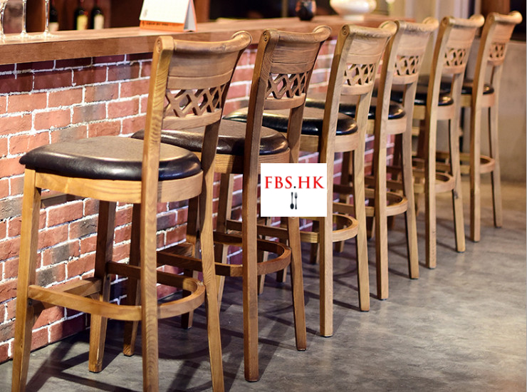 Retro Bar Chair Solid Wood Backrest Bar Chair Done Old Highchair Bar Highchair Tablechair Combination (Shipping Fee Quoted Separately)