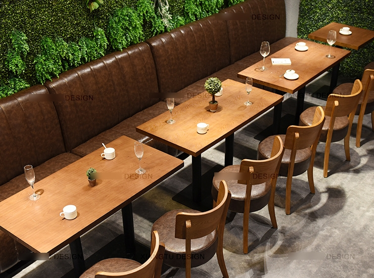 Retro Coffee Shop Fast Food Table Chairs Minimalist Coffee Shop Mobile Phones (Shipping Fee Quoted Separately)
