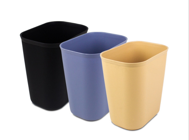Rooms Pp Trash Thickened Plastic Toilet Trash Household Trash Can Office Trash 10L